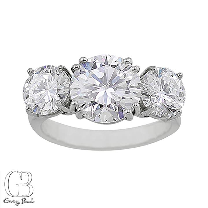 Riviere . ct D VSI Round Center Diamond Ring