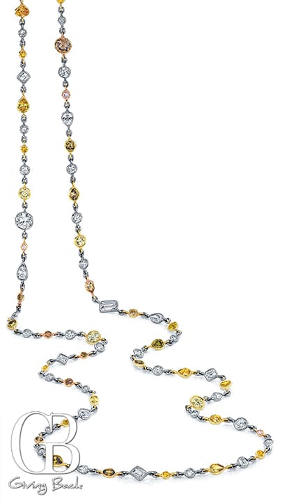 Riviere Multicolor Diamond Necklace