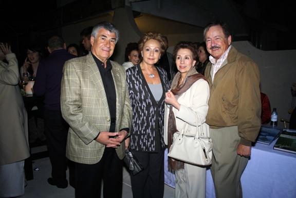 Roberto y Margarita Castro con Raquel y Alfredo Araiza