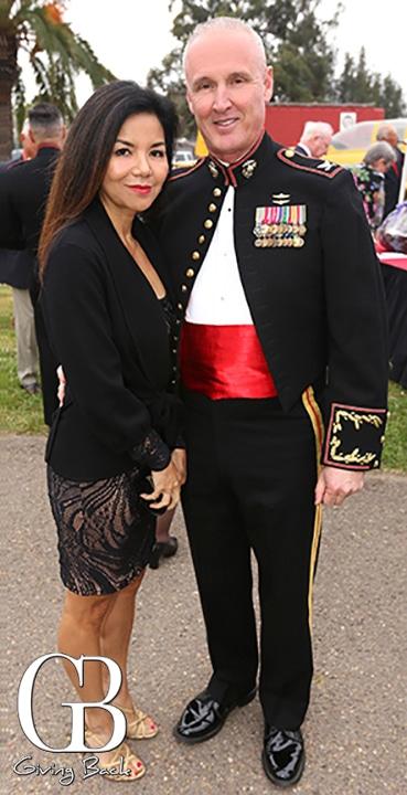 Rose Kubea and Coronel Jeff Arruda