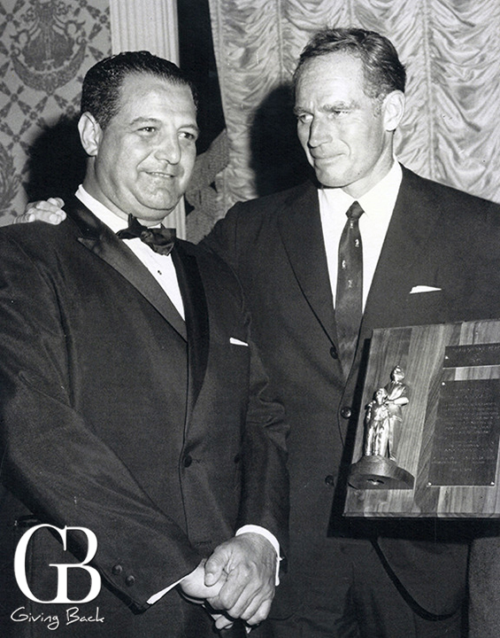 Salah Hassanein  with Charlton Heston