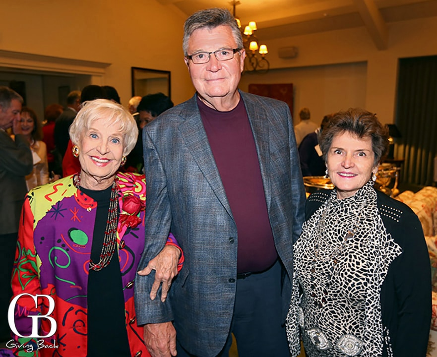 Sally Fuller with John and Karin Donaldson