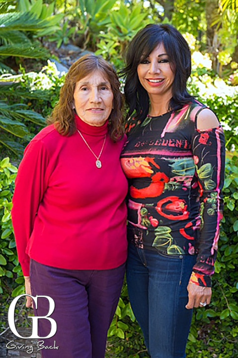 Sandra with her Mom