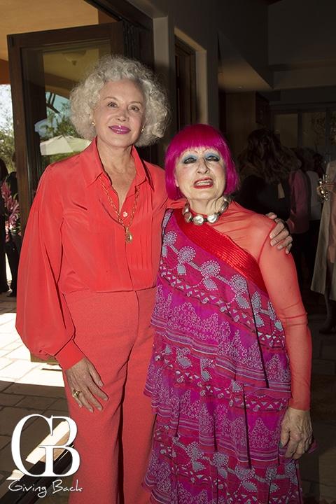 Sarah Marsh Rebelo and Dame Zandra Rhodes
