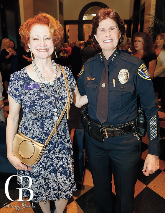 Sarah Napoli and Chief of San Diego Police Shelley Zimmerman
