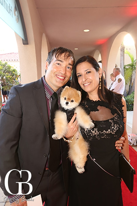 Scott Overcash and Michelle Carcel with Tristan
