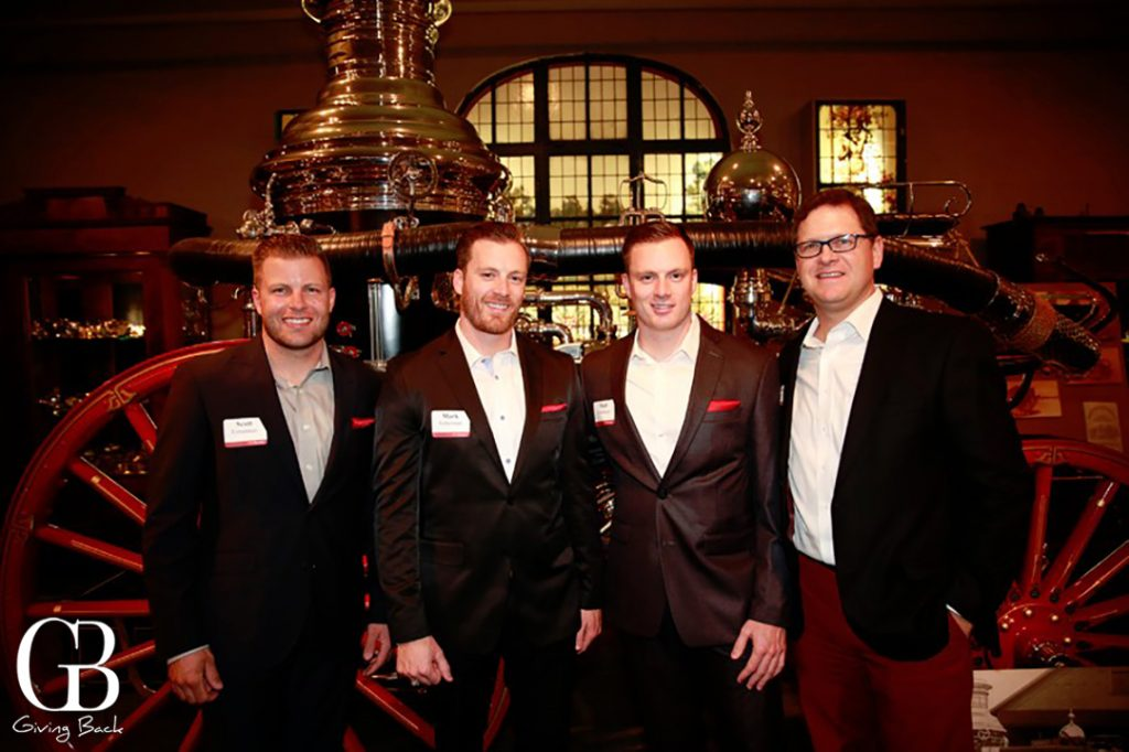 Scott  Mark and Matthew Fetterman with James Bogle