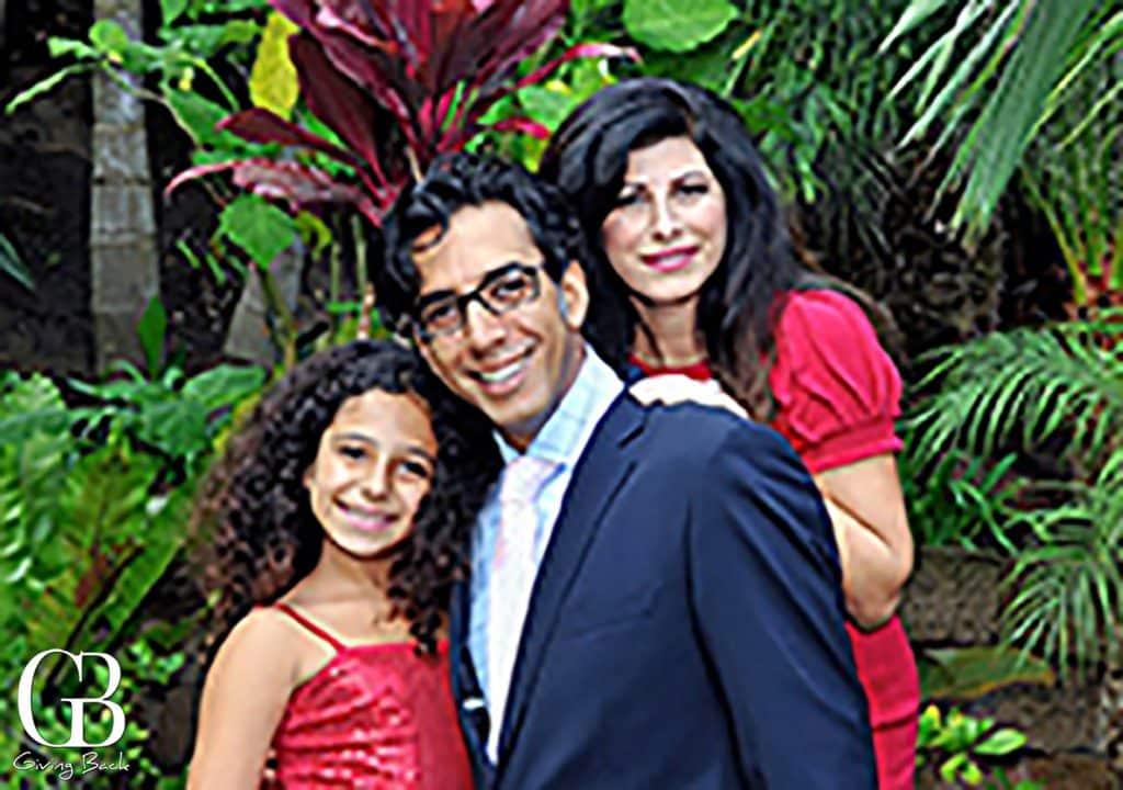Sean  his wife Marjan and daughter Natalie