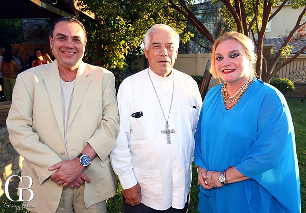 Segio Coppel  Arzobisbo Rafael Romo Munoz y Maritza Coppel