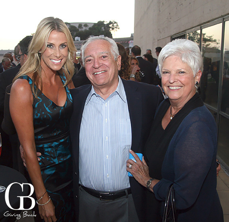 Shelley Lyford with Ron and Rose Mary Santoni