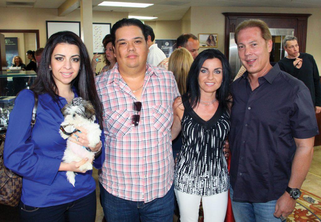 Shila and Adrian Reyes with Silvie Muinoz and Tom Byars.JPG