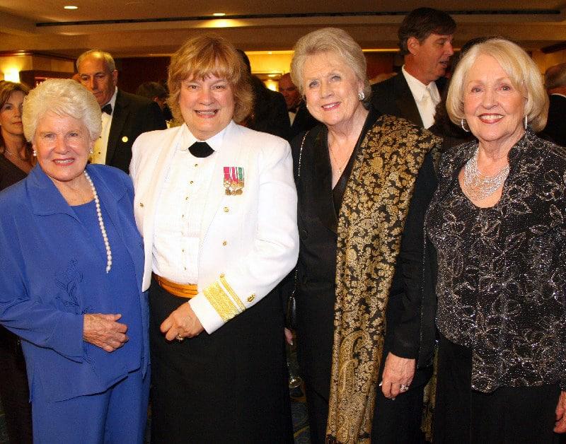 Shirley Godwin, Rear Admiral Christine Bruzek Kohler, Fern Murphy and Vangie Regan.JPG