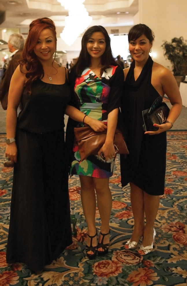 Sin Bosier, Therina Wang and Michelle Belgar
