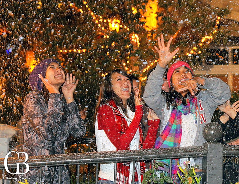 Snowfall at Village Walk Giving Back Magazine