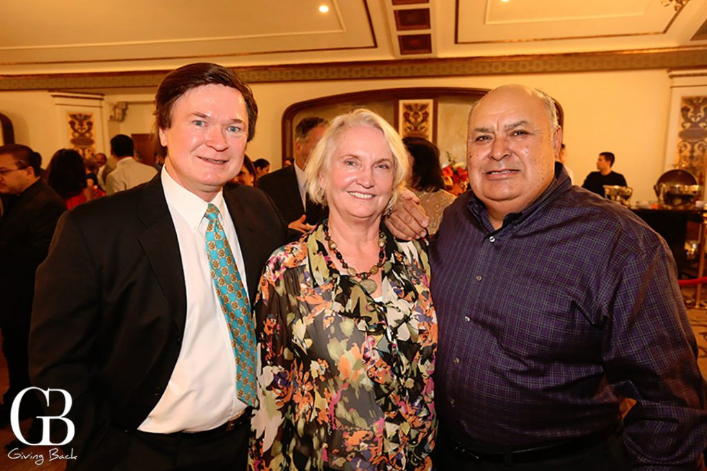 Sonny Morkus with Cynthia and Robert Griego