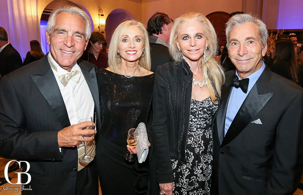 Stephen Ferruolo and Julie Robinson with Liz and Richard Bartell