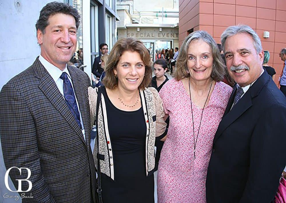 Steven Dinkin and Tara Fuad with Julie and Tom Karlo