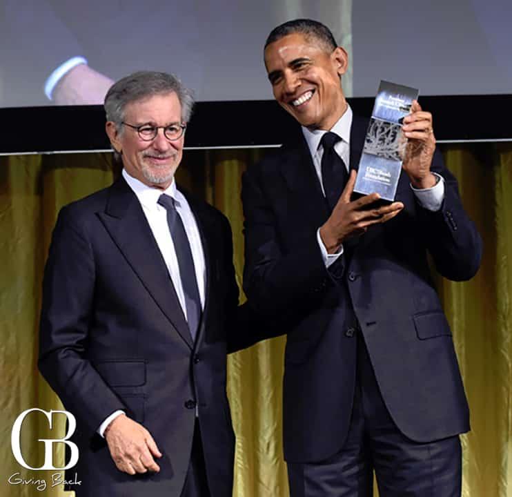 Steven Spielberg and President Barack Obama