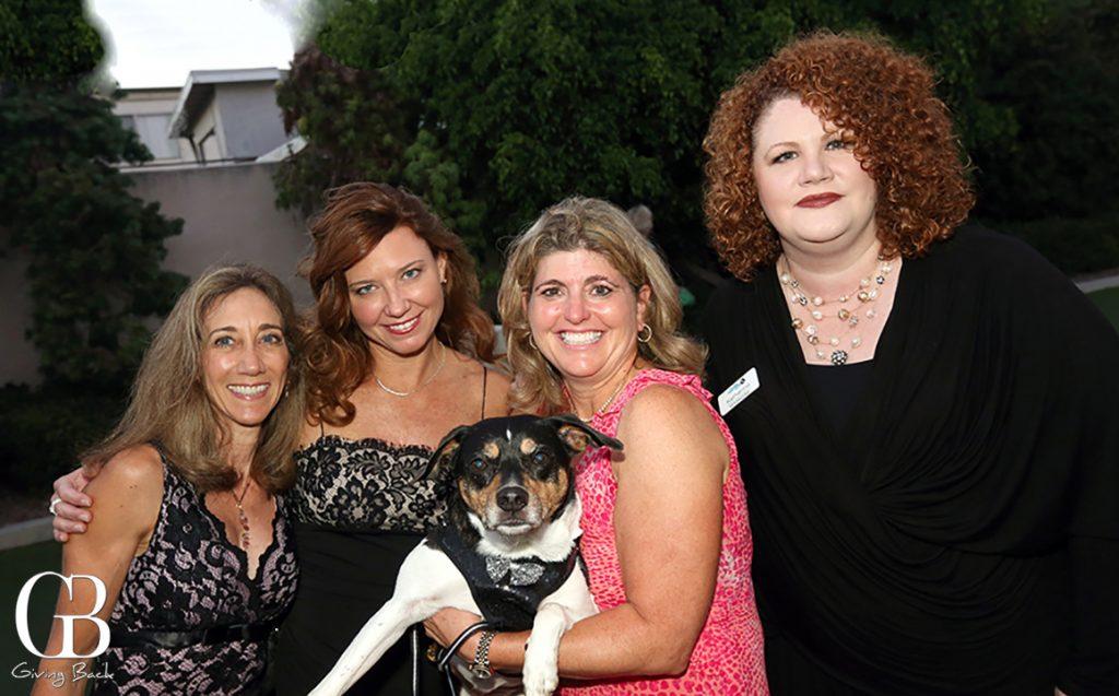 Sue Neshat  Emily Rex  Debra Patterson and Katherine Shenar with Buddy