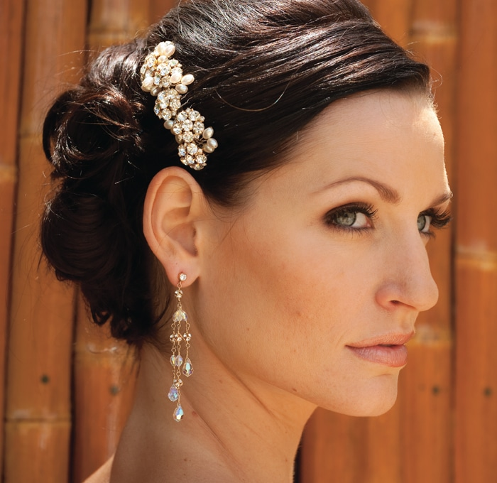 Summer Ball Headpiece, Julie Marie Earrings by Justine M Couture