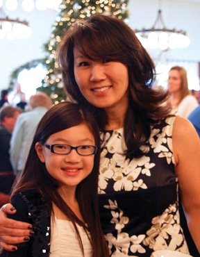 Sunah Feng and daughter