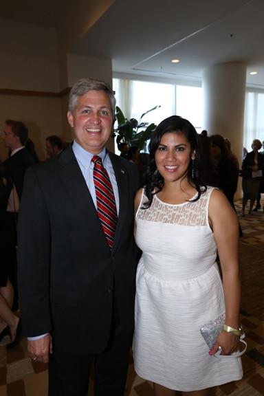 Supervisor Dave Roberts and Denise Serrano.JPG