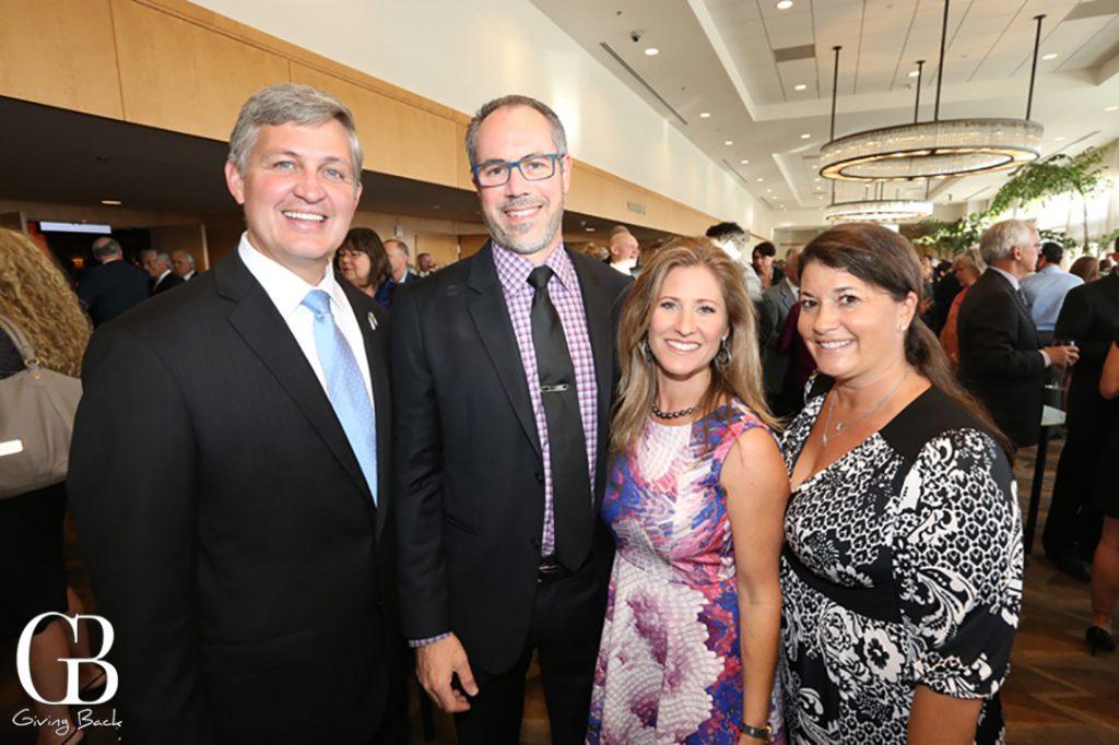 Supervisor Dave Roberts  Anton and Susan Monk and Kira Finkenberg