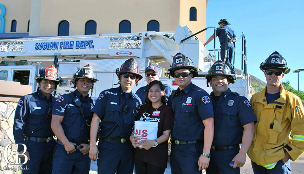 Sycaun Fire Department helping with The Bucket Challenge
