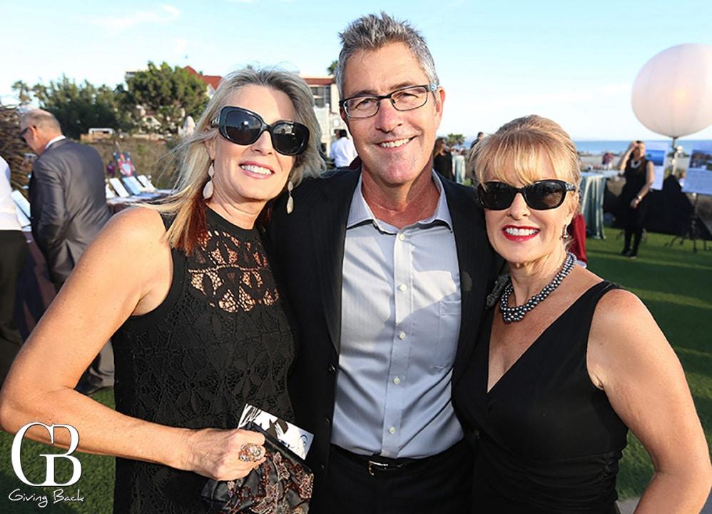 Tami and Mark Palumbo with Linda Harding
