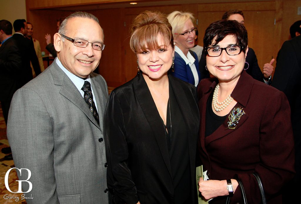 Ted and Lidia Martinez with Elizabeth Bustos