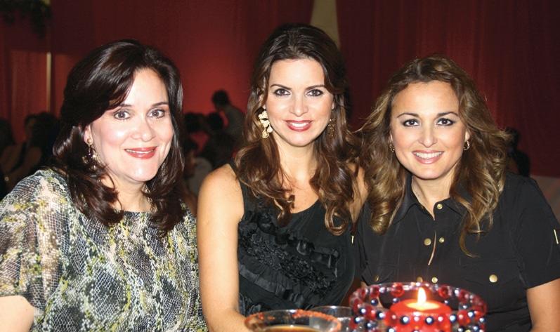 Tere Gama, Marilu Placencia y Dore Flores