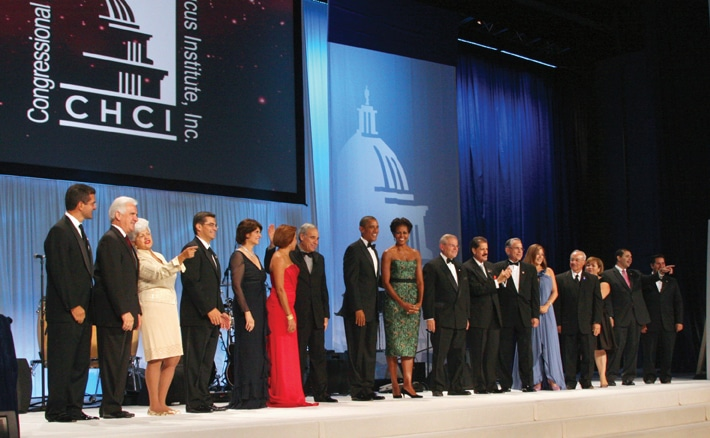 The President and First Lady with all Hispanic Members of Congress.JPG