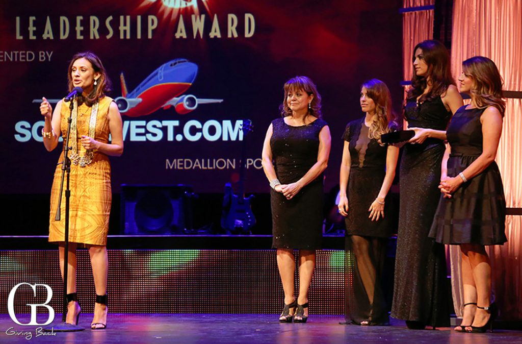 The Southwest Airlines Team presenting the Leadership Award