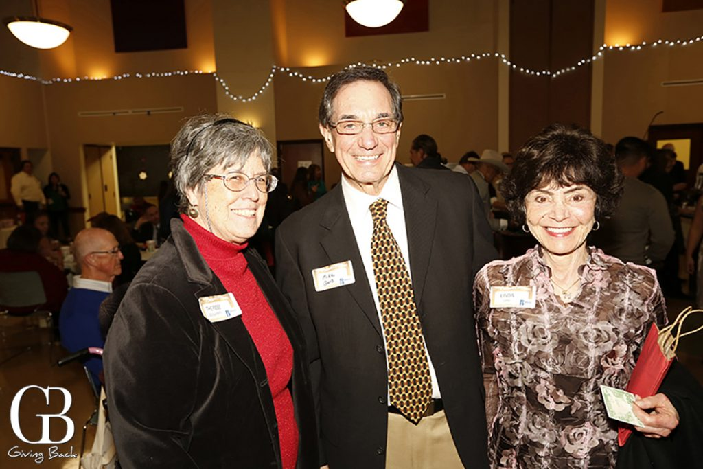 Therese Dougherty with Michael and Linda Gans