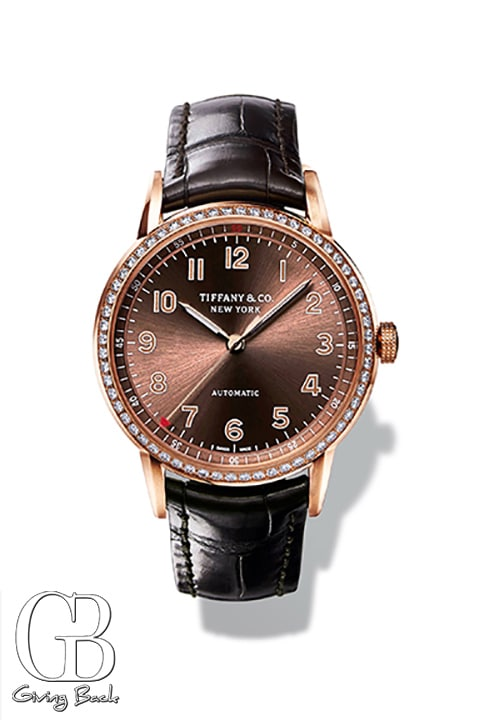 Tiffany CT  Hand in k rose gold and self winding mechanical movement
