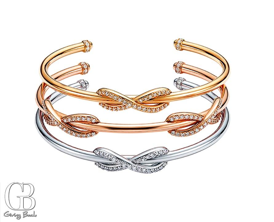 Tiffany Infinity cuffs with diamonds