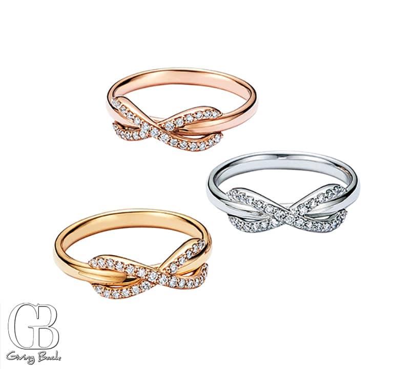 Tiffany Infinity rings with diamonds