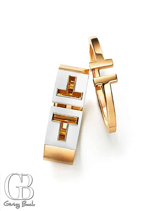 Tiffany T square bracelet and Cutout Cuff with white ceramic