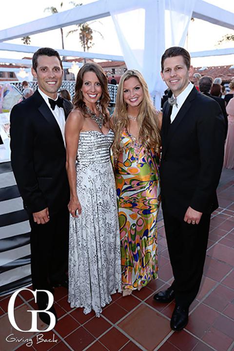 Tim and Ashley Olson with Remley and Doug Arthur