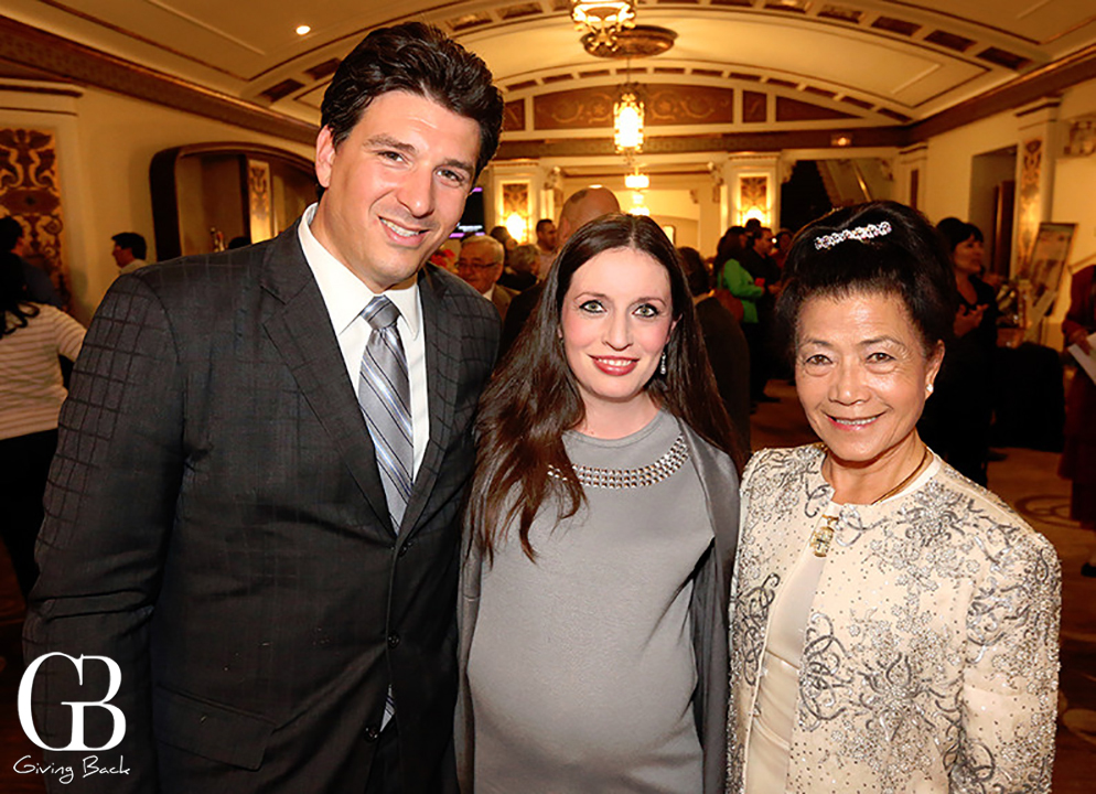Tim and Cecilia Van Damm with Claire Reiss