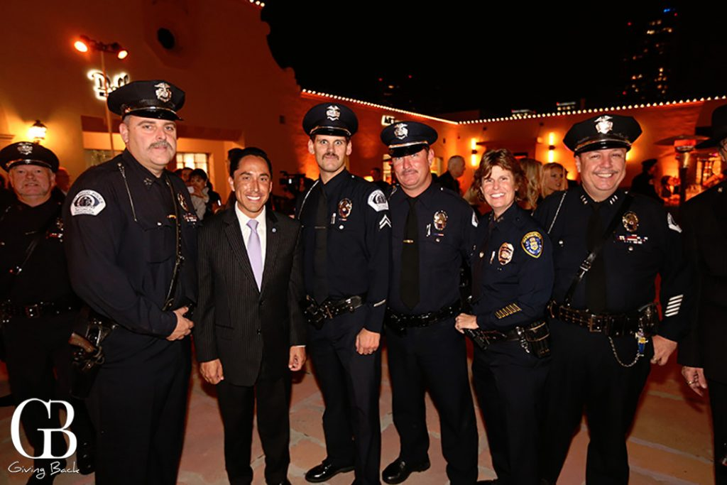 Tod Gloria with some of San Diego  s Finest