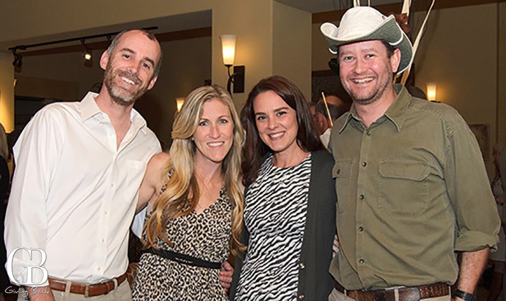 Tod and Lauren Pradels with Rebecca and Tom Woodrum