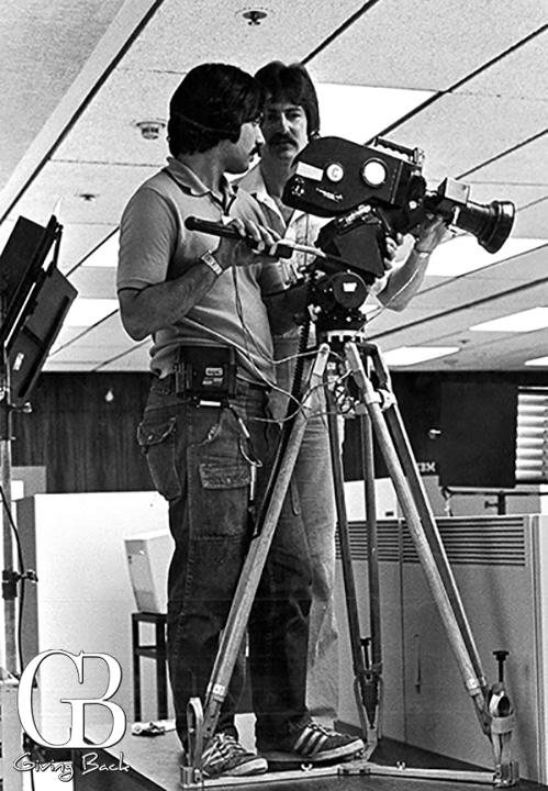 Tom Karlo  left  began his career at KPBS as a cameraman