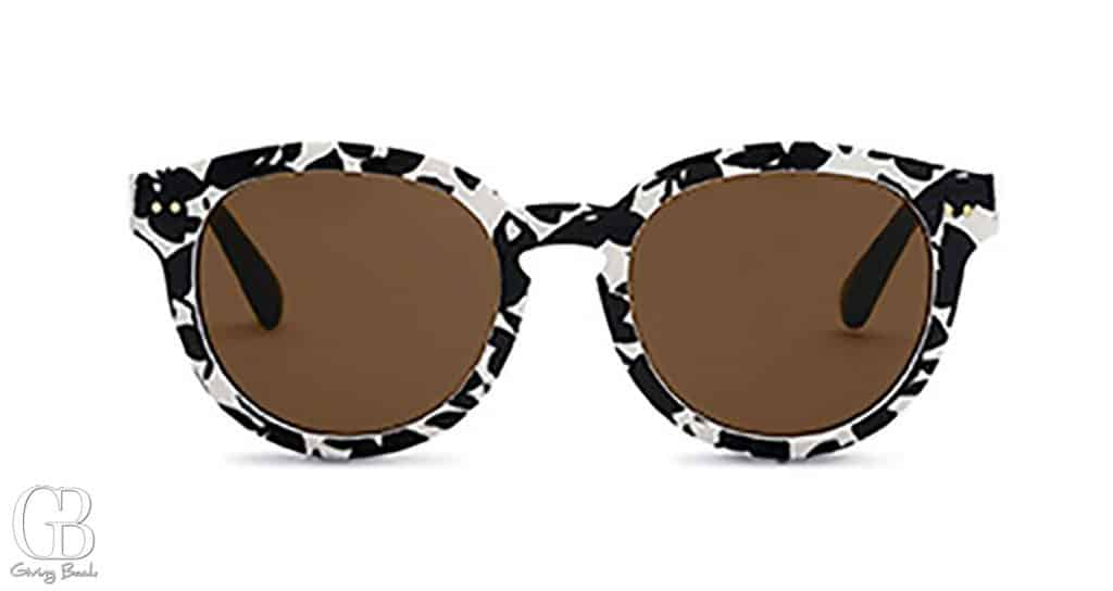 Tom  s Bellevue Black   White Sunglasses