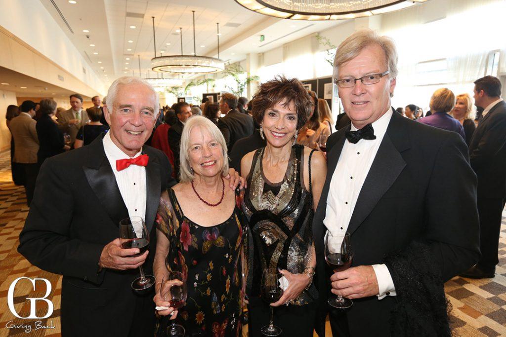 Tom and Bonnie Scott with Joyce Gattas and Paul Bedington