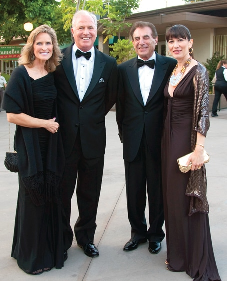 Tory and Rick Gulley with Leo and Emma Zuckerman