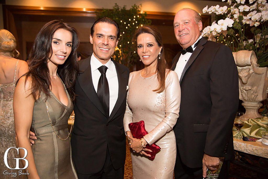Valentina Valencia and Vahid Moradi with Rocio and Mike Flynn