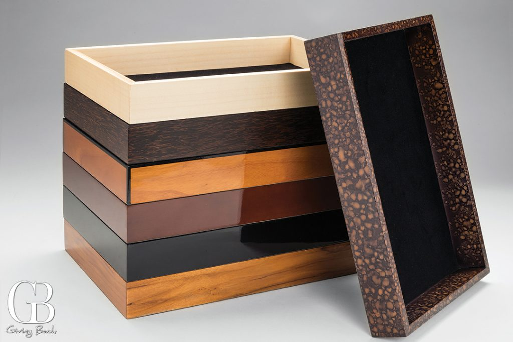 Valet trays crafted from a selection of fine woods