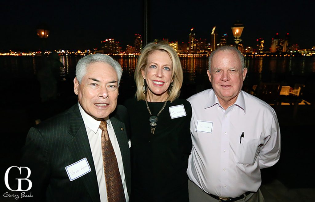 Vernon Aguirre with Jo and Tom Hazard