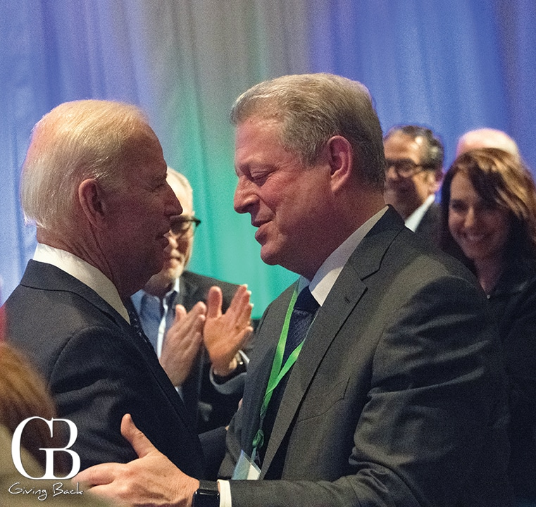 Vice President Joe Biden with Vice President Al Gore